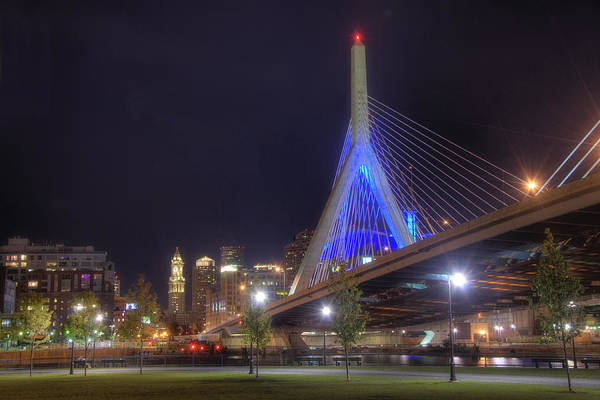 Photograph - Blue Zakim 2 by Joann Vitali