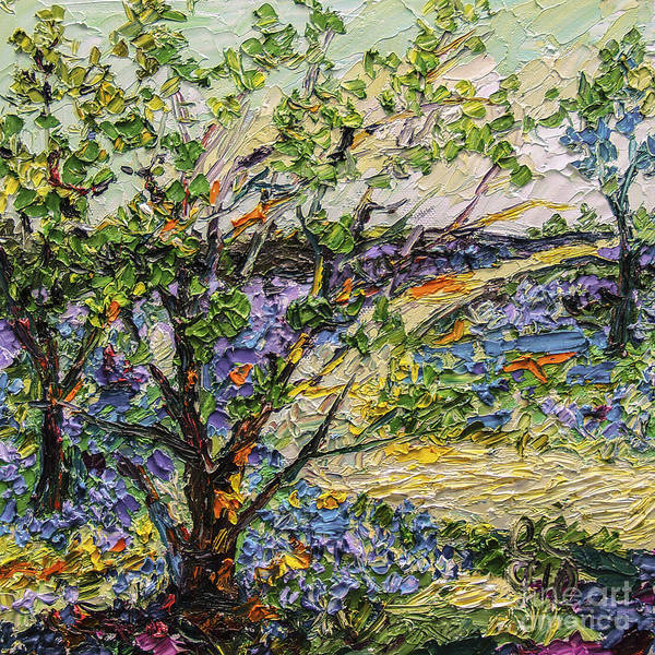 Painting - Bluebell Forest Impressionsit Oil Painting by Ginette Callaway