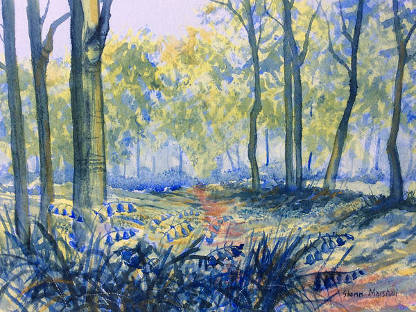 Painting - Bluebells In Sewerby Park by Glenn Marshall