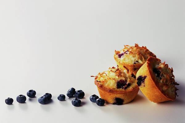 Berries Photograph - Blueberry-coconut Pound Cakes by Romulo Yanes