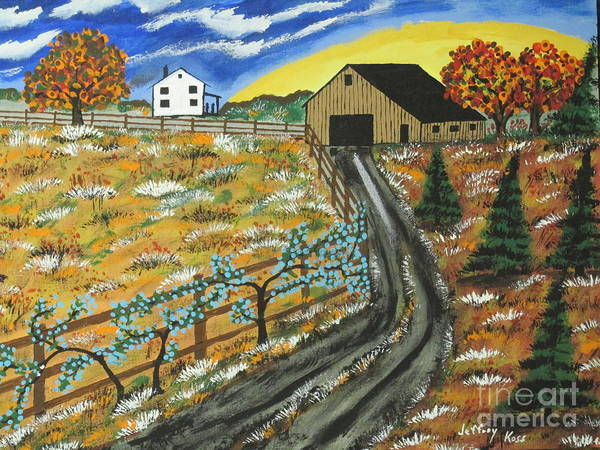 Wall Art - Painting - Blueberry Farm by Jeffrey Koss