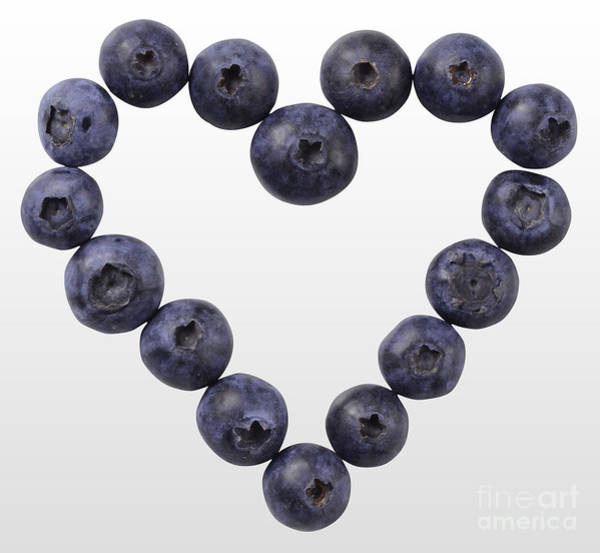 Photograph - Blueberry Heart by Gwen Shockey