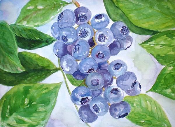 Wall Art - Painting - Blueberry by Jennifer Kwon
