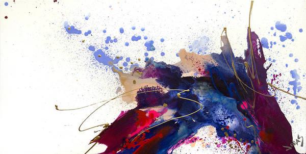 Wall Art - Painting - Blueberry Splash by Jonas Gerard