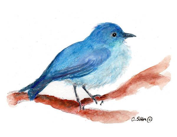Painting - Bluebird by C Sitton