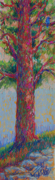 Wall Art - Painting - Bluebird Of Happiness Tree by Billie Colson