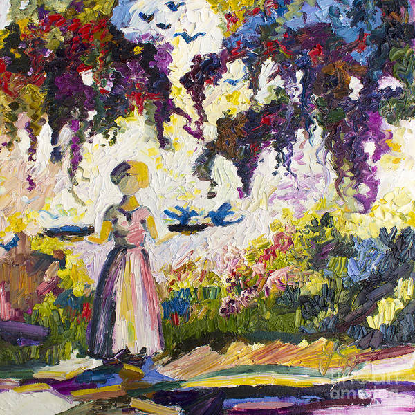 Painting - Bluebirds In The Garden Of Good And Evil Savannah by Ginette Callaway
