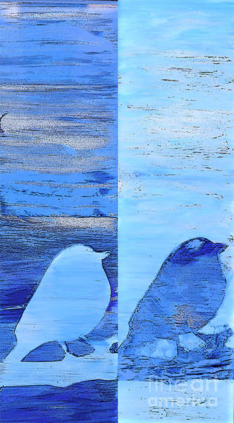 Bluebirds Art Print