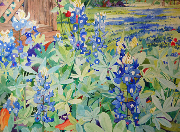 Painting - Bluebonnet Beauties by Terry Holliday