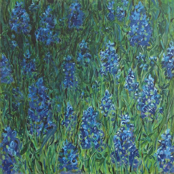 Bluebonnet Square Art Print by Molly Benson