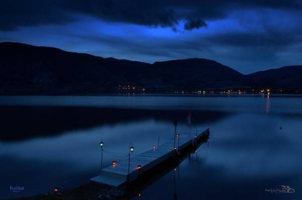 Photograph - Bluehour - Skaha Lake 4-2-2014  by Guy Hoffman