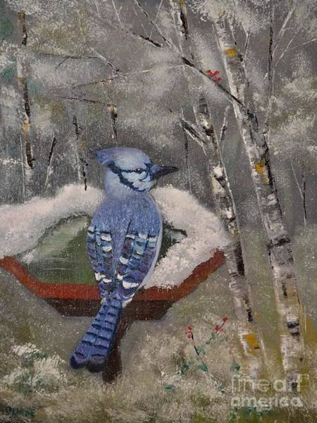 Painting - Bluejay by Denise Tomasura