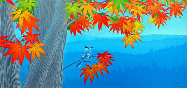 Painting - Bluejay In The Fall by Duane McCullough