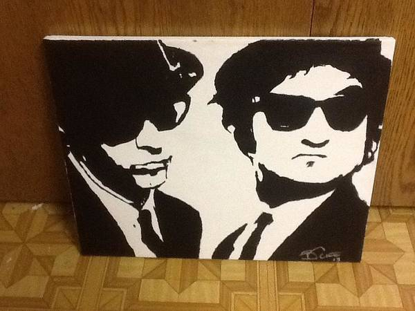 Elwood Blues Painting - Blues Brothers by Bill Cline