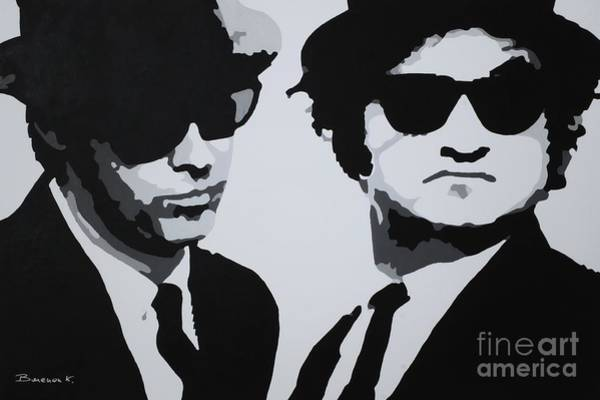 Brothers Painting - Blues Brothers by Katharina Filus