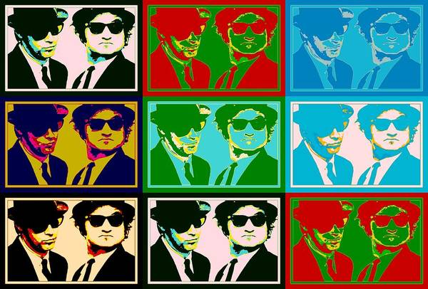 Pop Culture Mixed Media - Blues Brothers Pop Art by Dan Sproul