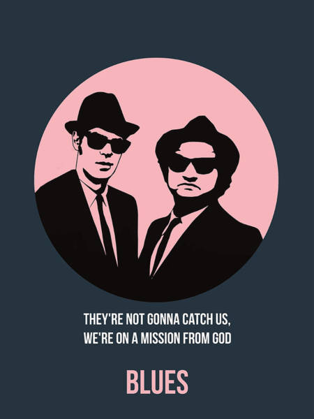 Cinematography Painting - Blues Brothers Poster 1 by Naxart Studio