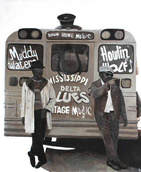 Skipping Painting - Blues Bus by Patrick Kelly