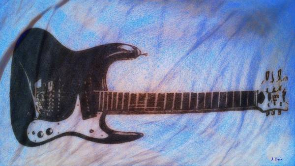 Digital Art - Blues Guitar by Alec Drake