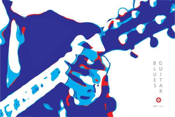 Digital Art - Blues Guitar Poster by David Davies