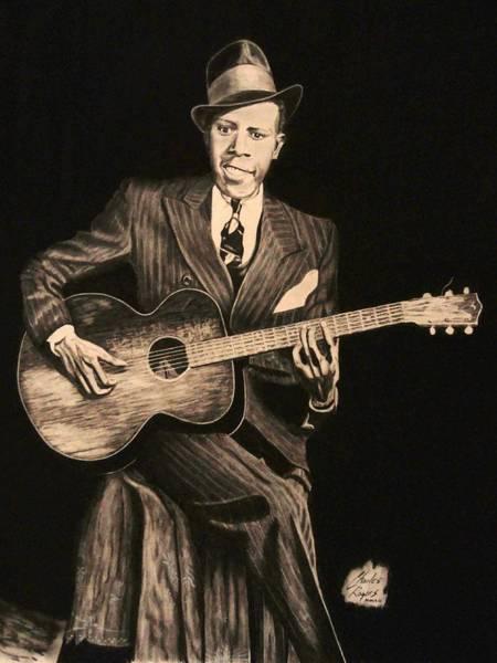 Wall Art - Drawing - Blues Originator  by Charles Rogers