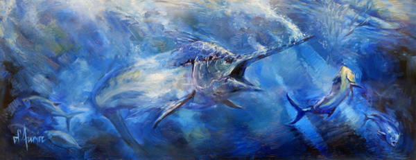 Freshwater Wall Art - Painting - Blues by Tom Dauria