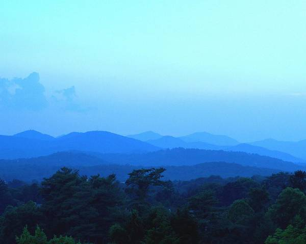 Grove Park Inn Photograph - Blue Ridge Mountains  Asheville Nc by Reginald Valliere