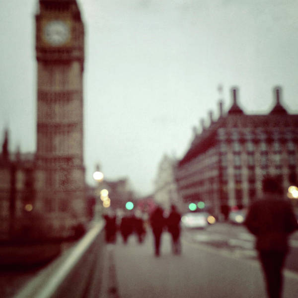 The Clock Tower Photograph - Blurred Big Ben by Louise Legresley