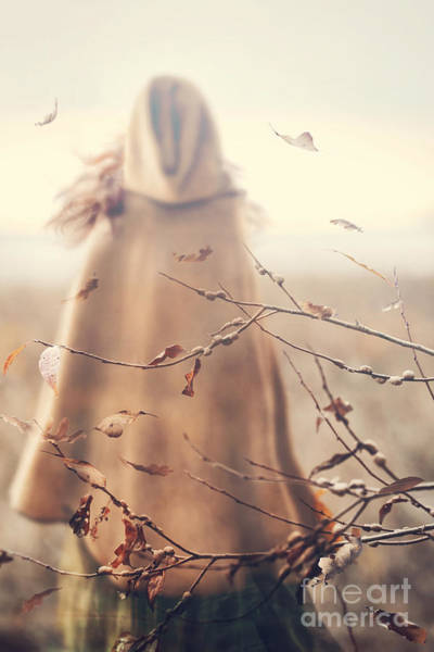 Photograph - Blurred Image Of A Woman With Cape by Sandra Cunningham