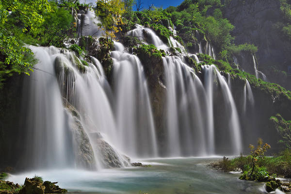 Photograph - Blurred Waterfall by Ivan Slosar
