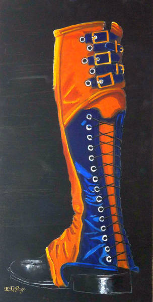 Painting - Blus And Gold Boot by Richard Le Page