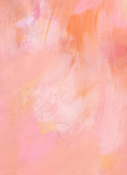 Wedding Painting - Blush- Abstract Painting In Pinks by Linda Woods