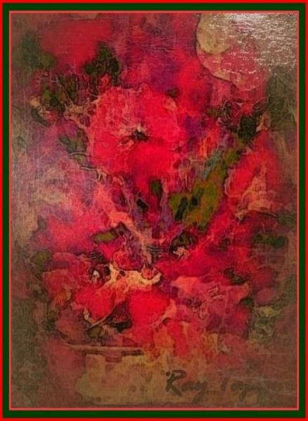 Mixed Media - Blushing Red Flowers  by Ray Tapajna