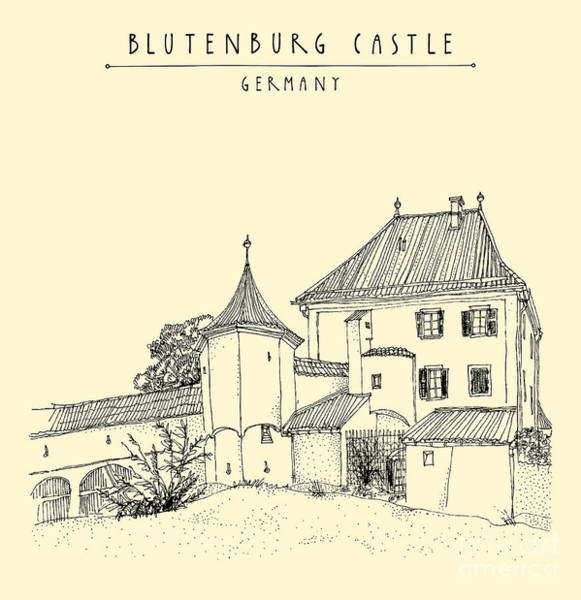 Wall Art - Digital Art - Blutenburg Castle Near Munich, Bavaria by Babayuka