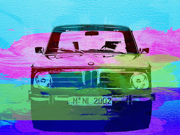 Watercolors Photograph - Bmw 2002 Front Watercolor 1 by Naxart Studio