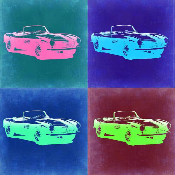 Bmw Painting - Bmw 507 Pop Art 2 by Naxart Studio