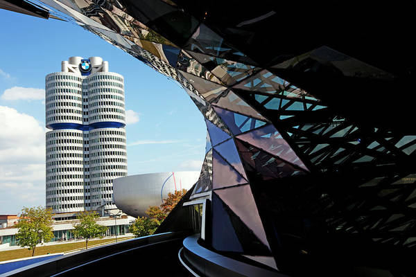 Wall Art - Photograph - Bmw Headquarters, From Bmw Welt, Or Bmw by Dan Herrick