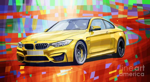 Wall Art - Digital Art - Bmw M4 Orange by Yuriy Shevchuk