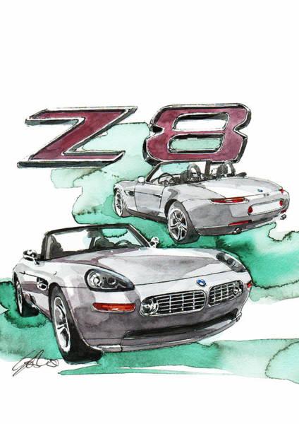 Bmw Painting - bmw Z8 by Yoshiharu Miyakawa
