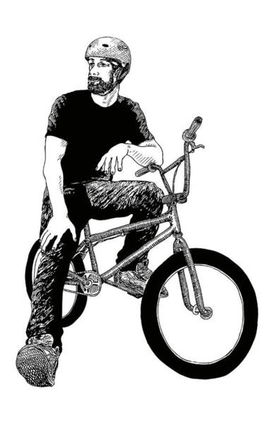 Wall Art - Drawing - BMX by Karl Addison