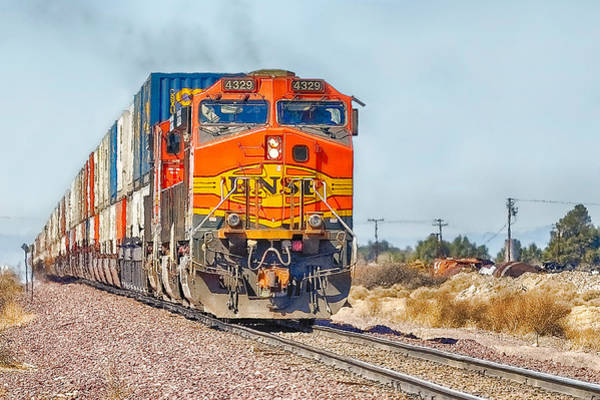 Photograph - Bnsf 4329 - 2 by Jim Thompson