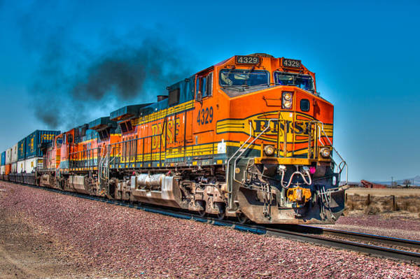 Photograph - Bnsf 4329 by Jim Thompson