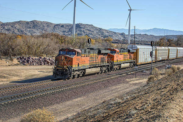 Photograph - Bnsf 7454 by Jim Thompson