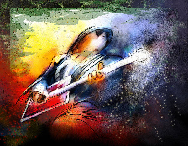 Painting - Bo Diddley Madness by Miki De Goodaboom