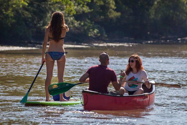 Board And Canoe In Vermillionville Boat Parade Art Print