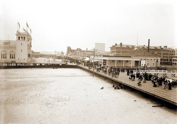 Steel Drawing - Board Walk West From Steel Pier, Atlantic City by Litz Collection