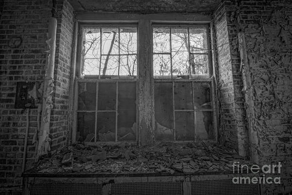 D800 Photograph - Boarded Up Bw by Michael Ver Sprill