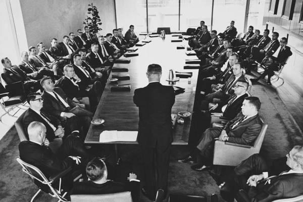 Wall Art - Photograph - Boardroom Meeting, C. 1960s by M.e. Warren