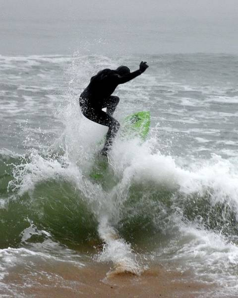Photograph - Boardskimming - Into The Surf by Kim Bemis