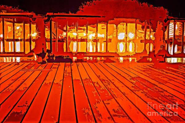 Photograph - Boardwalk At Night By Yokosuka Bay by Beverly Claire Kaiya